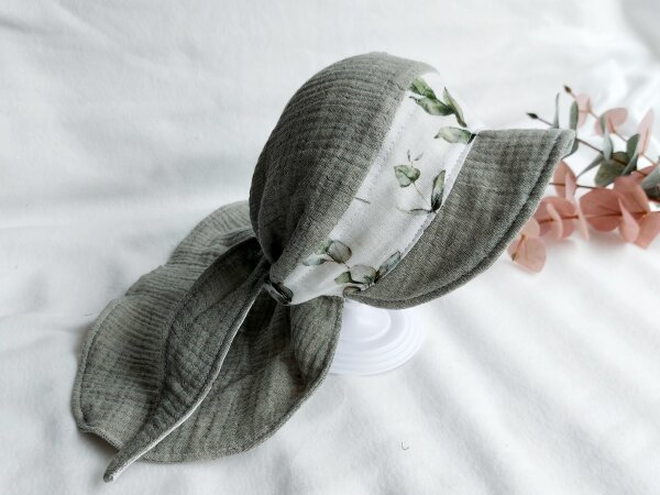 Grroße Bandana-Kappe mint, KU: 40-56 cm